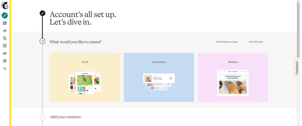 موقع ميل شمب MailChimp