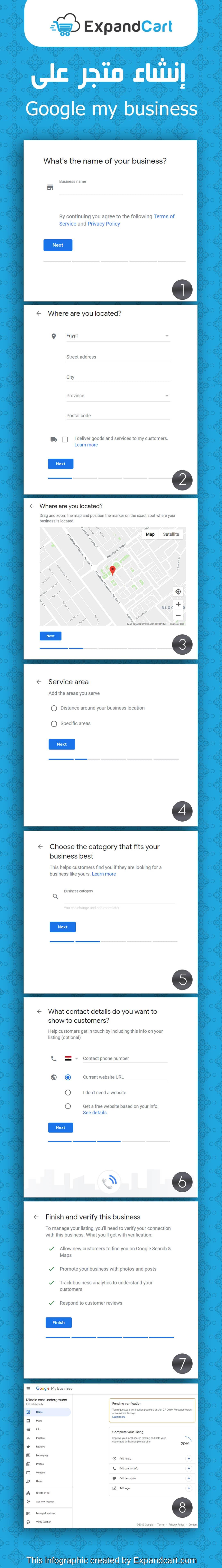 انشاء متجر على نشاطي التجاري Google My Business