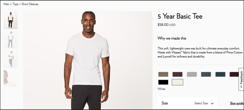t-shirt product description example