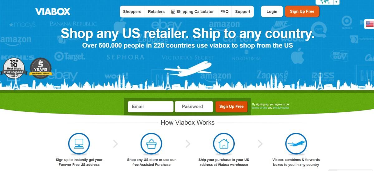 top shipping companies: ViaBox