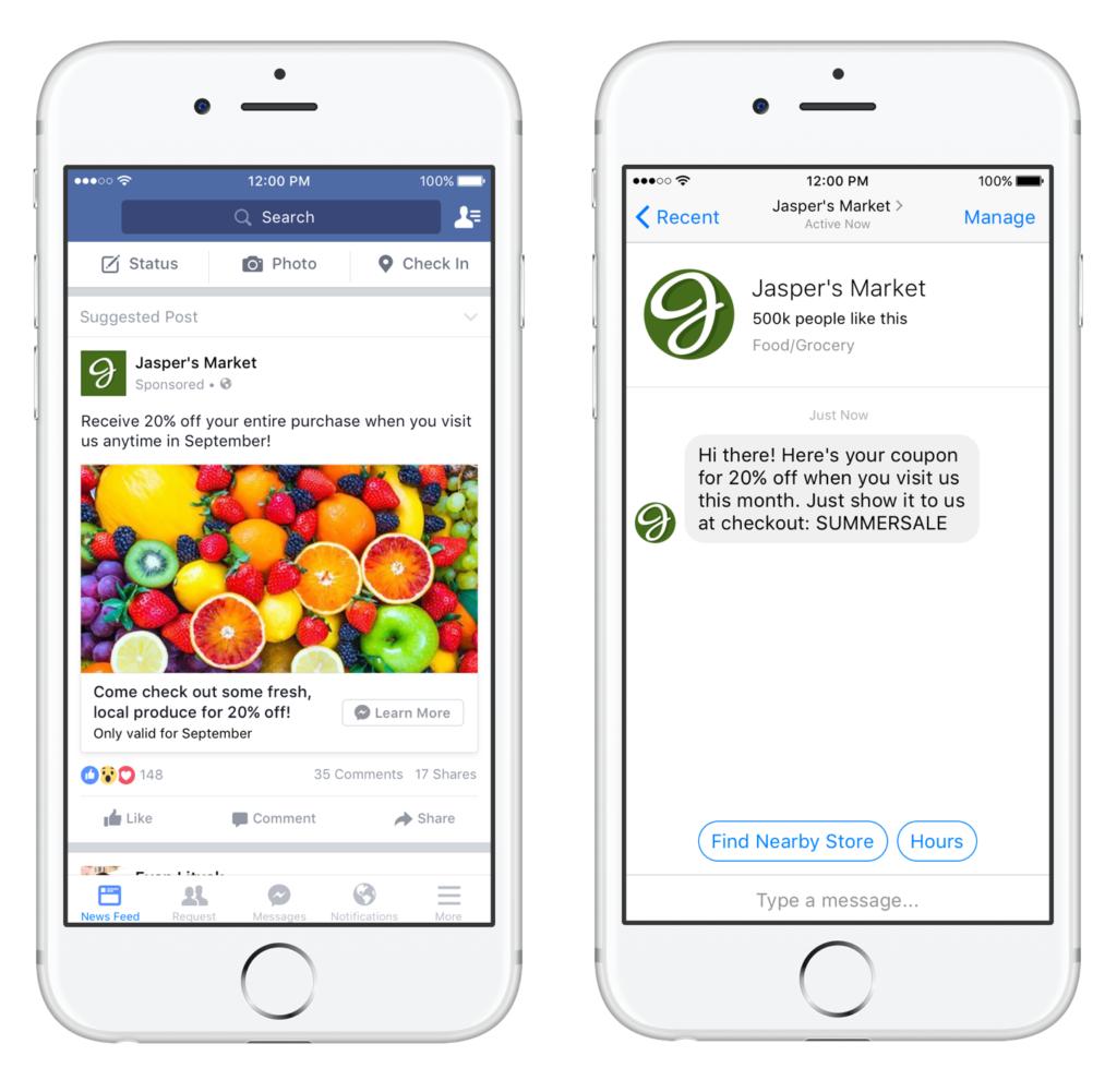 أنواع اعلانات فيسبوك_إعلان الرسائل