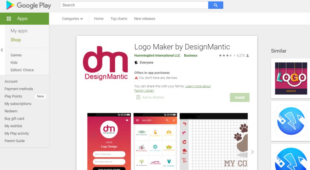 DesignMantic – Logo Maker لصناعة الشعار