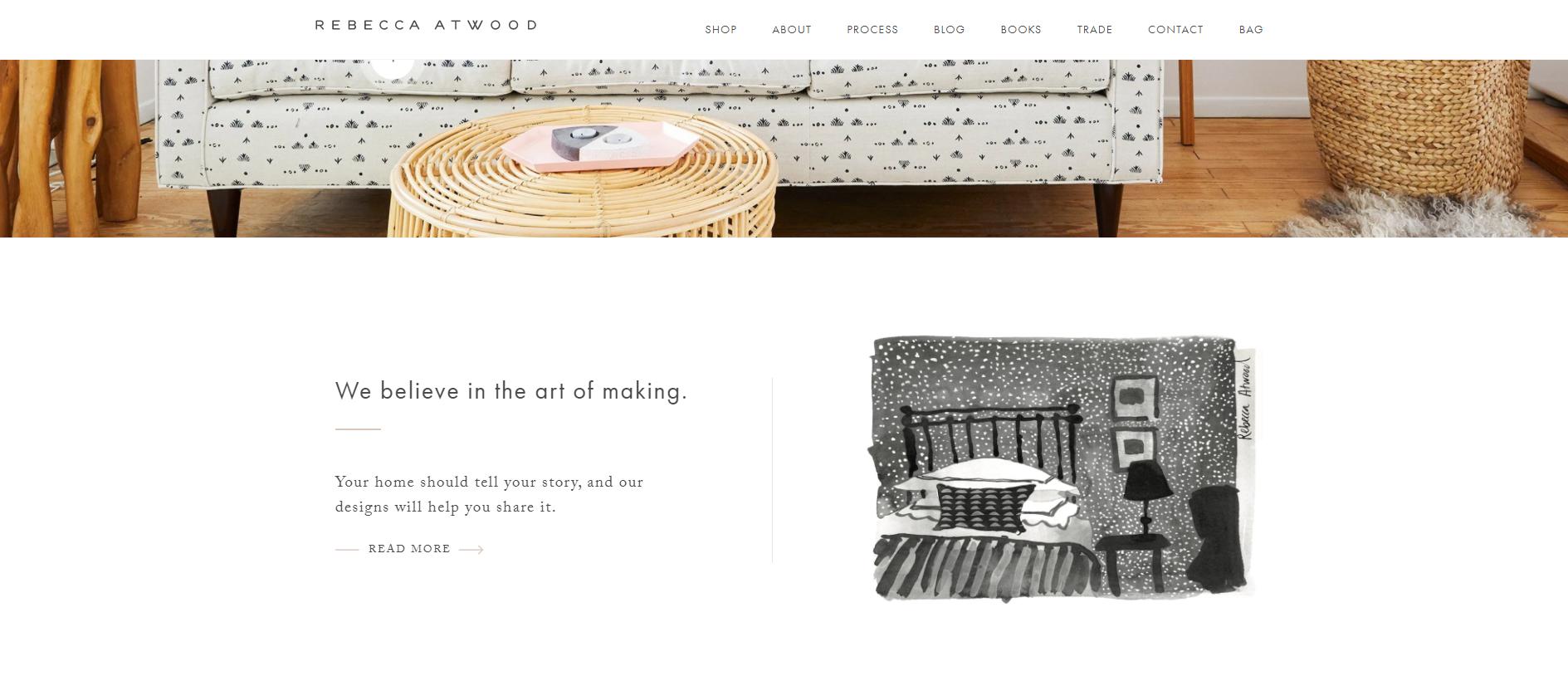 متجر Rebecca Atwood - تصميم موقع الكتروني