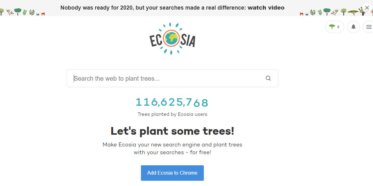 Ecosia alternative search engine