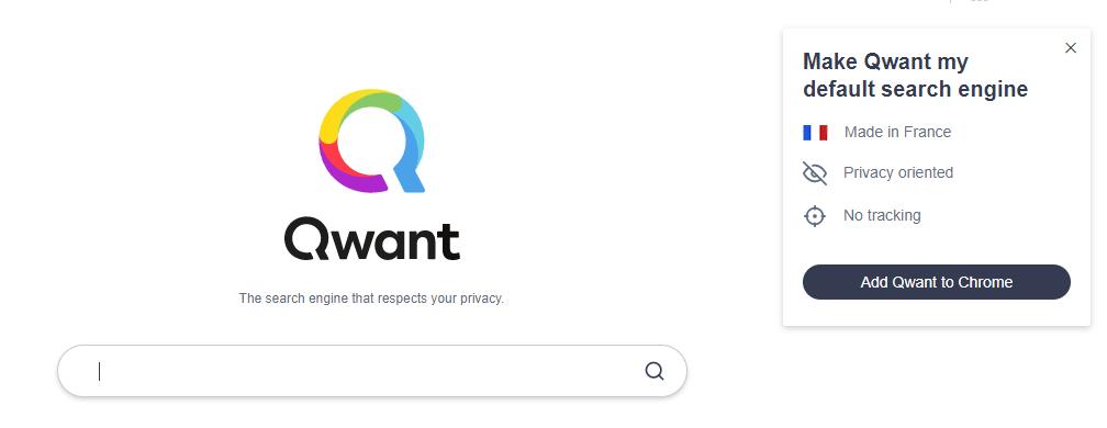 Quant alternative search engine