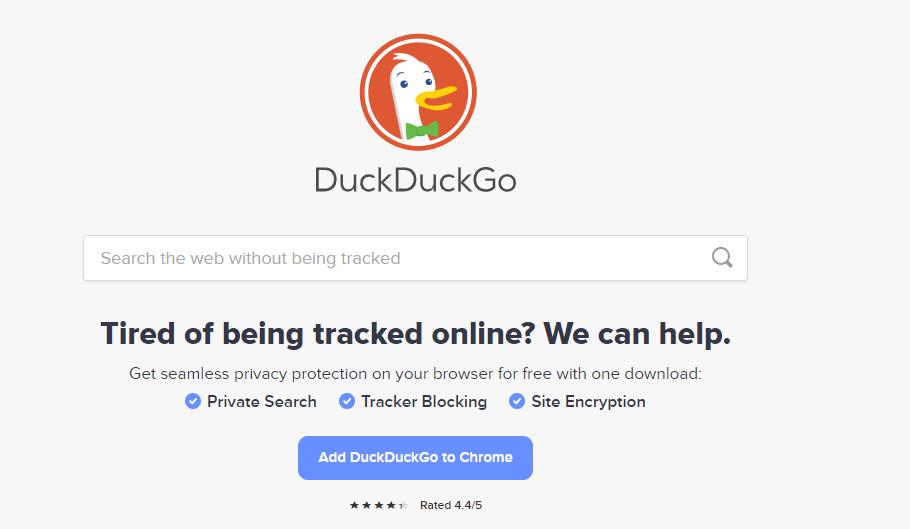 duckduck go - google search alternatives