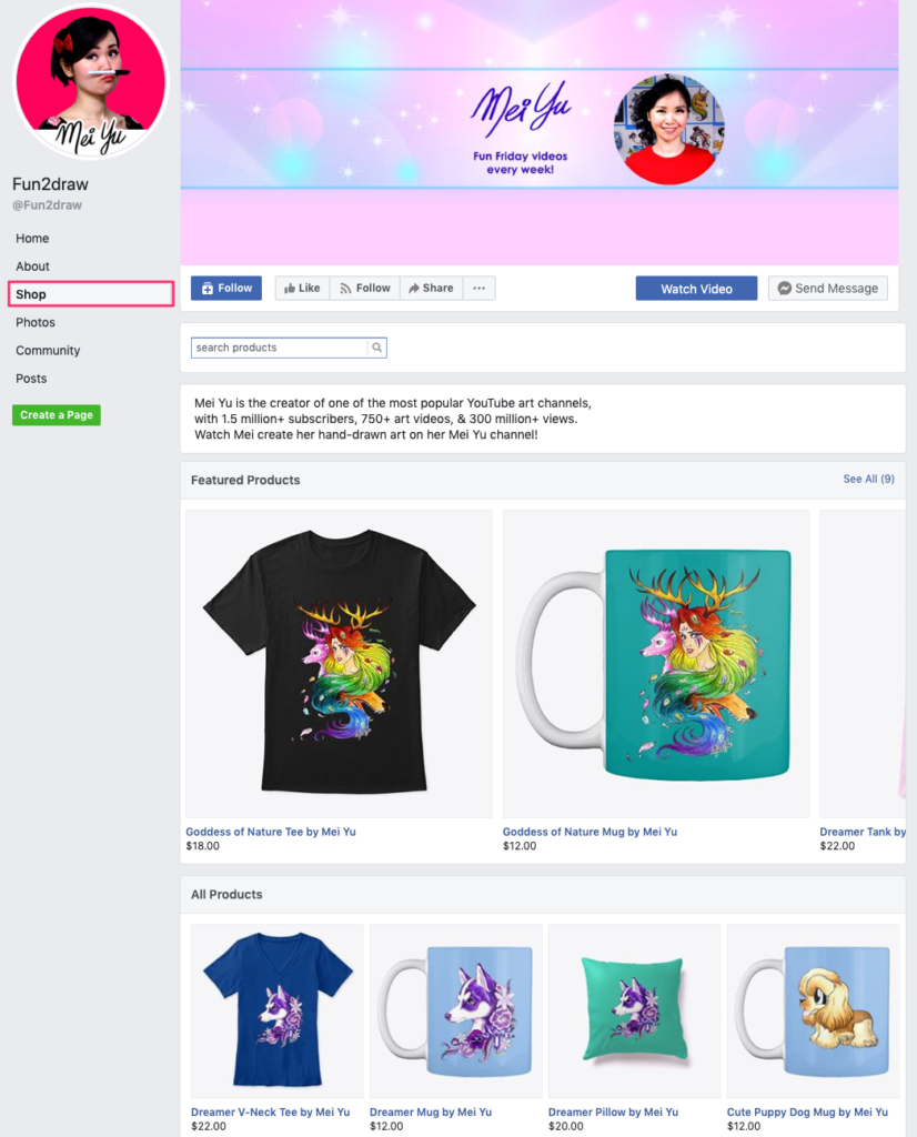 إنشاء متجر إلكتروني على الفيس بوك
