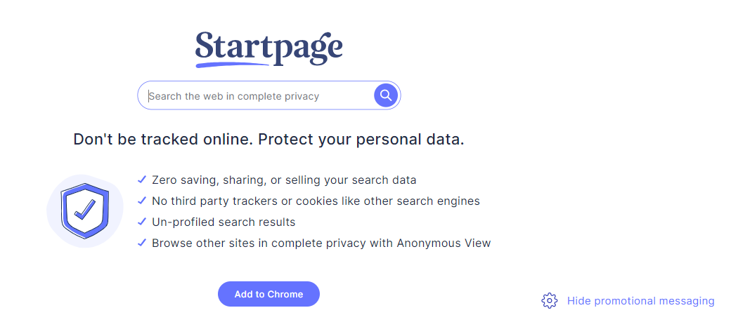 startpage alternative search engine