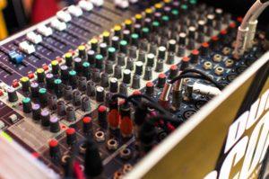DJ mixer as an example of audio digital content