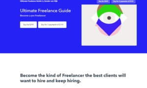 """Screenshot of the """"Ultimate Freelance Guide"""" website"""