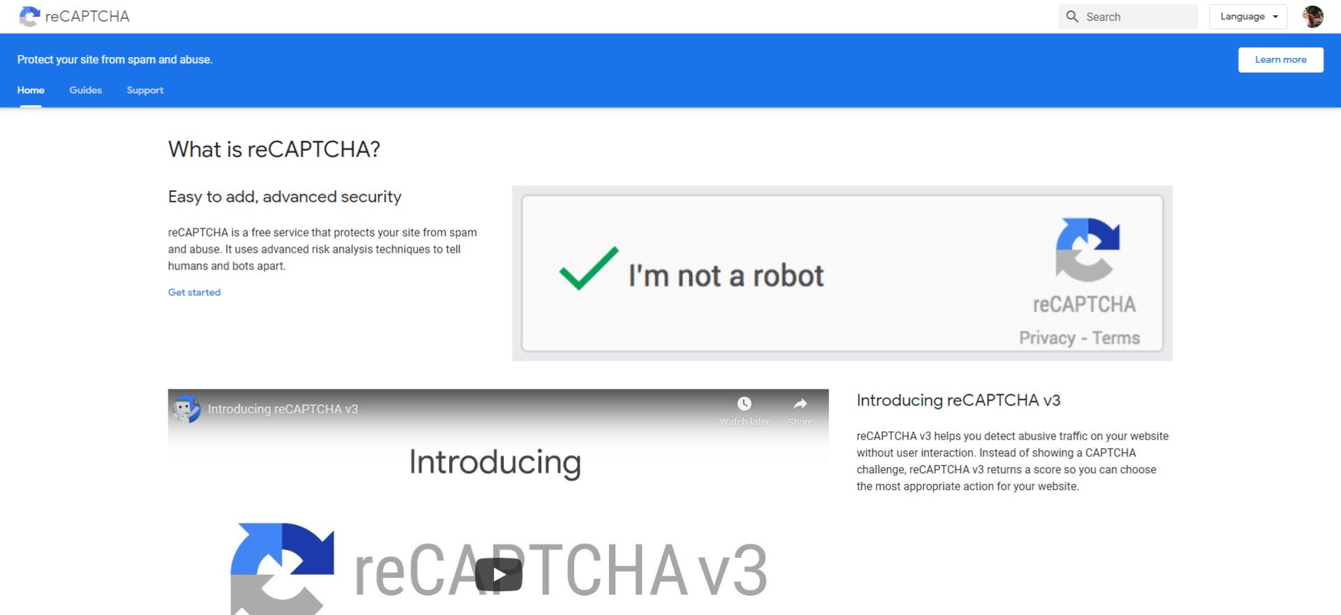 جوجل reCAPTCHA لحماية المتجر الالكتروني الـ احترافي