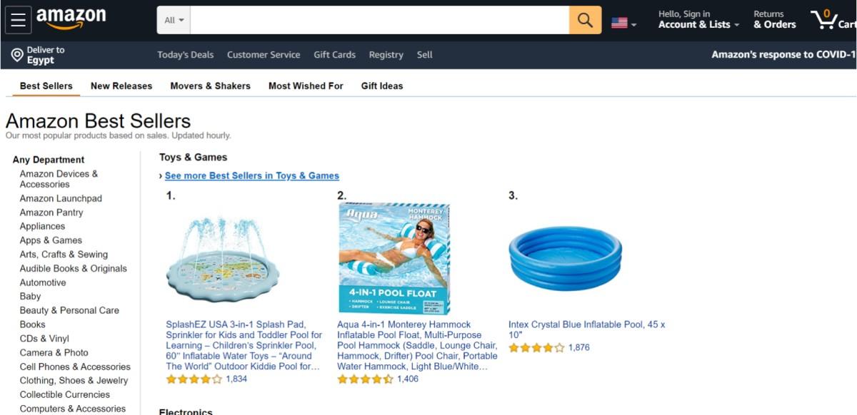 منتجات مربحة من قائمة المنتجات الأكثر مبيعا عبر أمازون