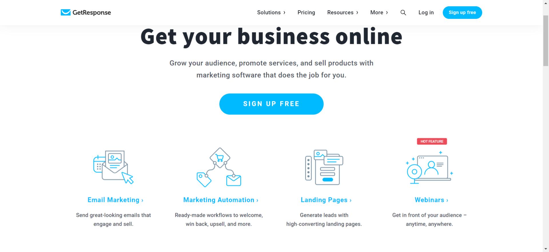 GetResponse من أدوات أتمتة التجارة الالكترونية