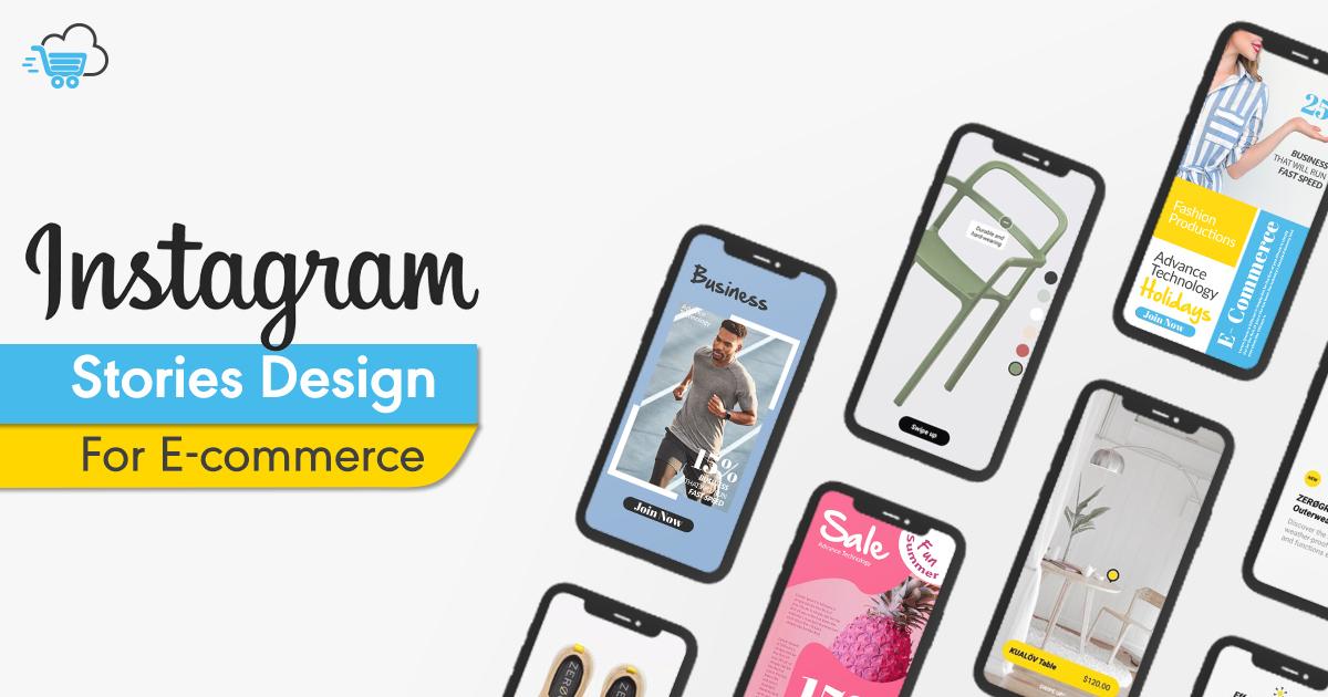instagram stories eCommerce design