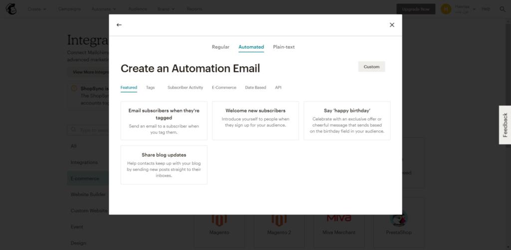 Mailchimp والتسويق بالبريد الإلكتروني