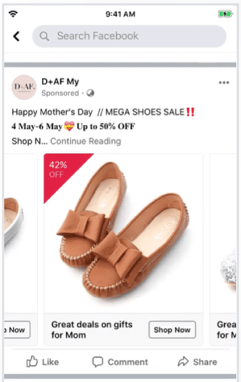 Facebook Remarketing Campaign Examples: D+AF