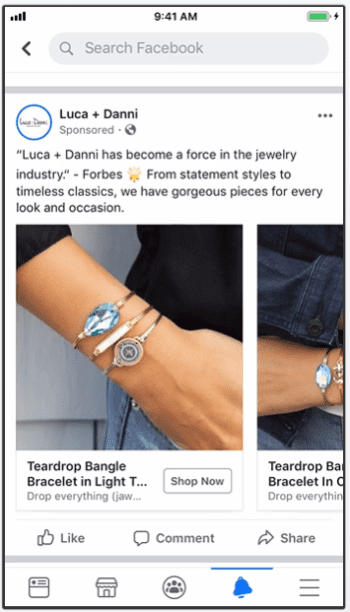 Facebook Remarketing Examples: Luca + Danni