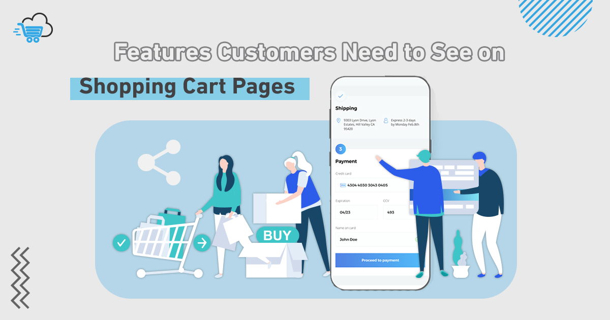 Features of Shopping Cart Pages