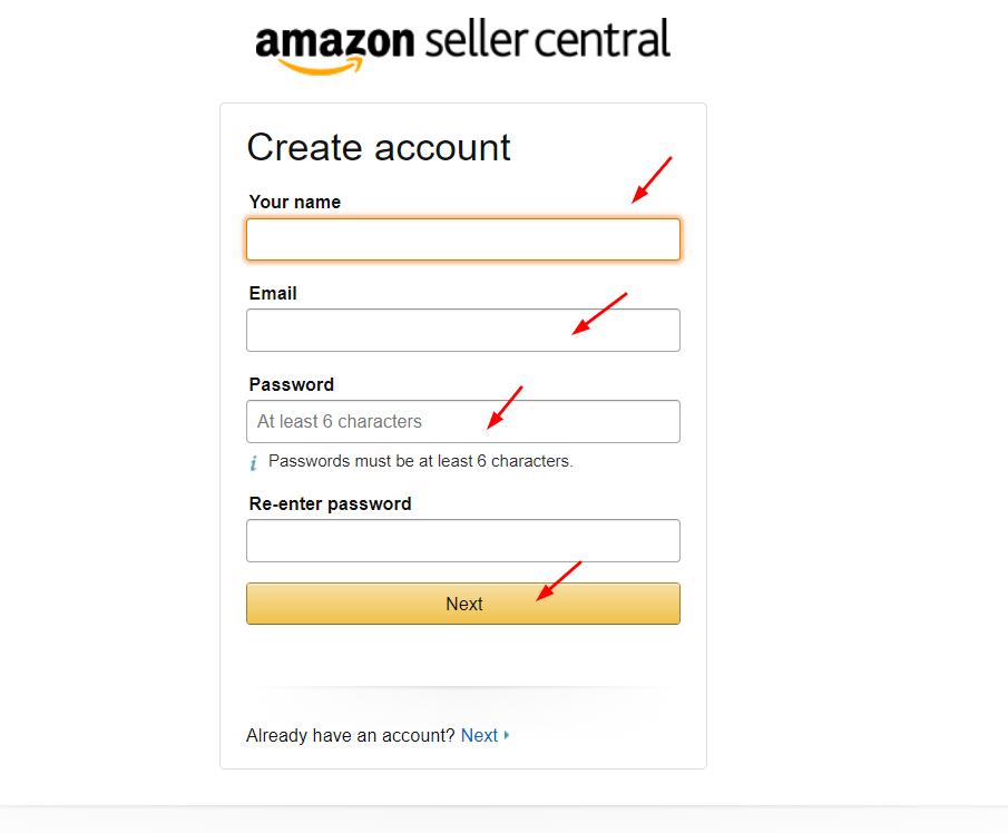 إنشاء حساب للربح من أمازون