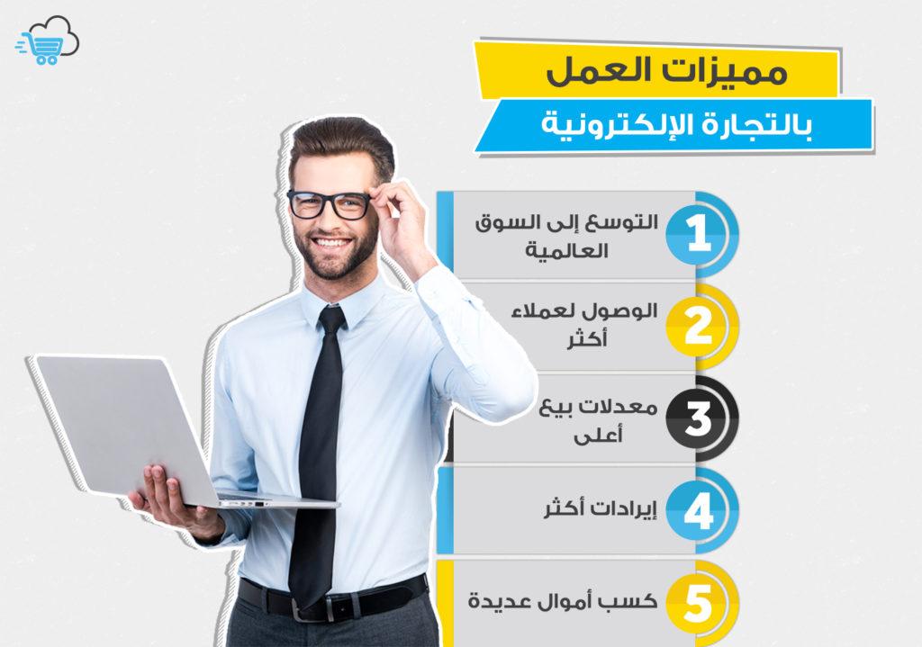 مميزات العمل في التجارة الإلكترونية