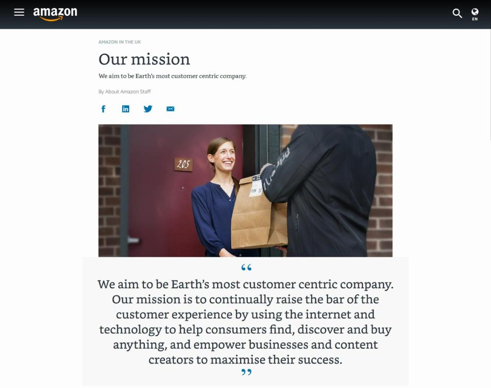 Branding Strategies for eCommerce Businesses: Amazon Mission