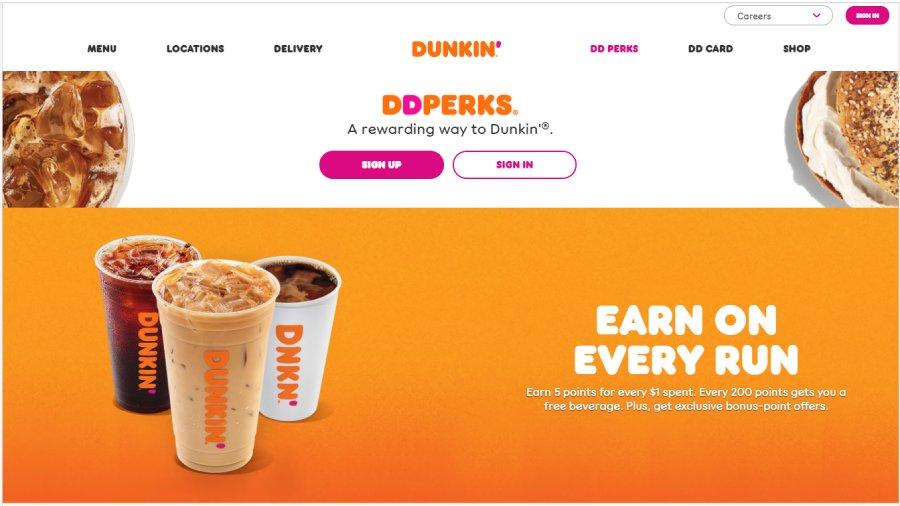 Point-Based Customer Loyalty Program: Dunkin' Donuts