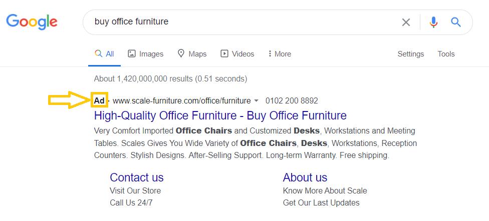 PPC Ads Example
