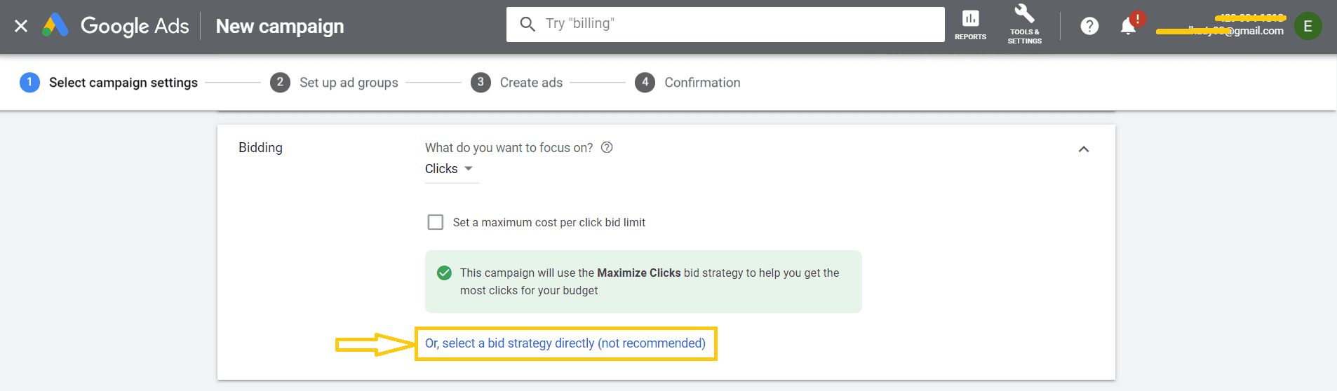 Step 11 to Set a Google Ads Account
