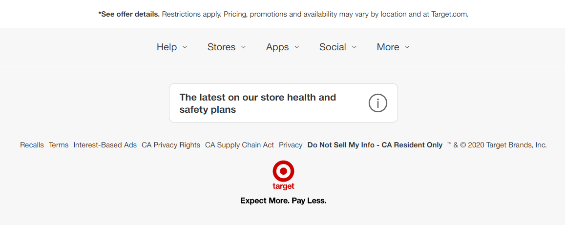 eCommerce branding, Target Slogan