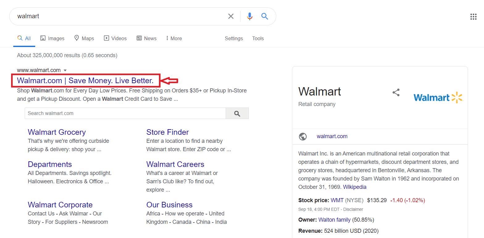 Walmart Slogan - Ecommerce branding