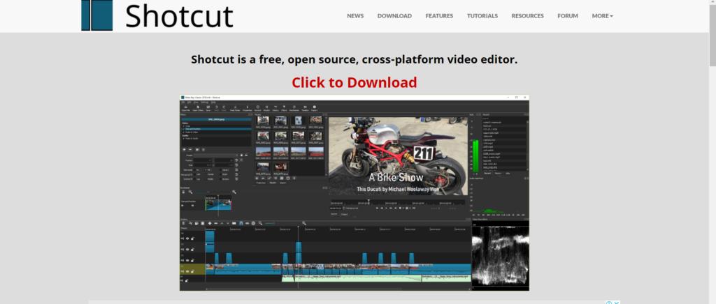 برنامج Shotcut لتعديل الفيديوهات للمتاجر الإلكترونية