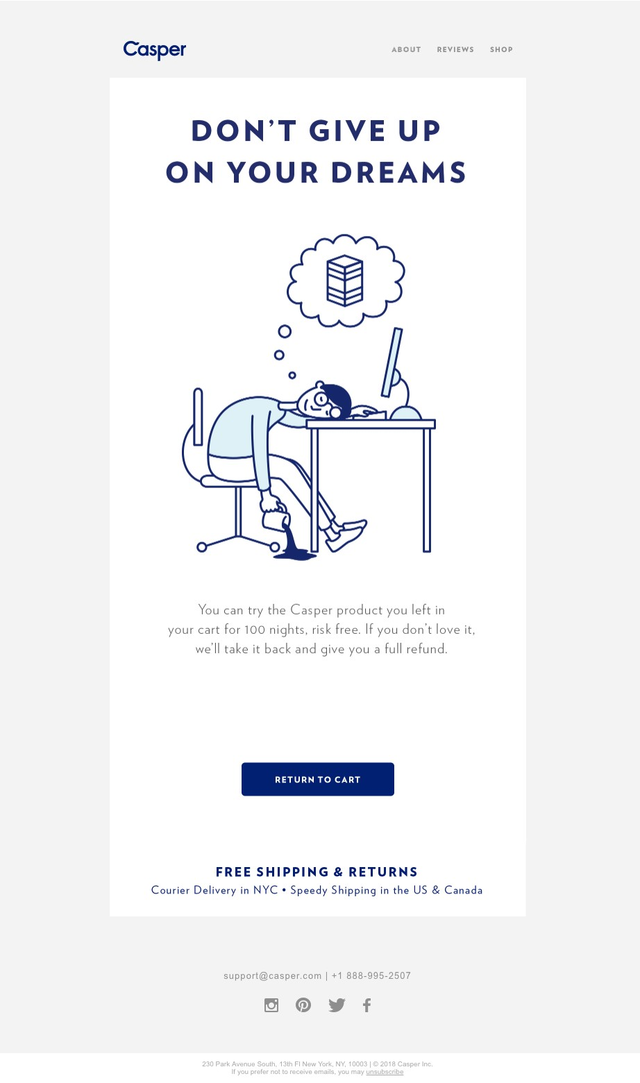 Casper Email Copy Writing