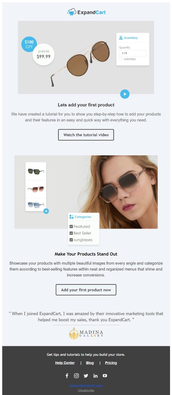 Email Copywriting Example - ExpandCart