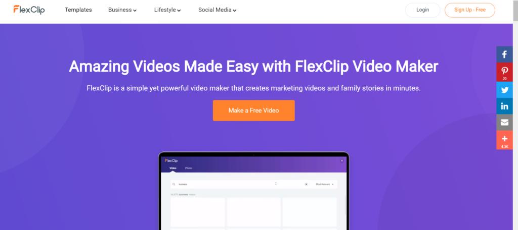 برنامج FreeClip لتعديل الفيديوهات