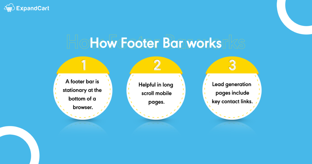 How Footer Bar works