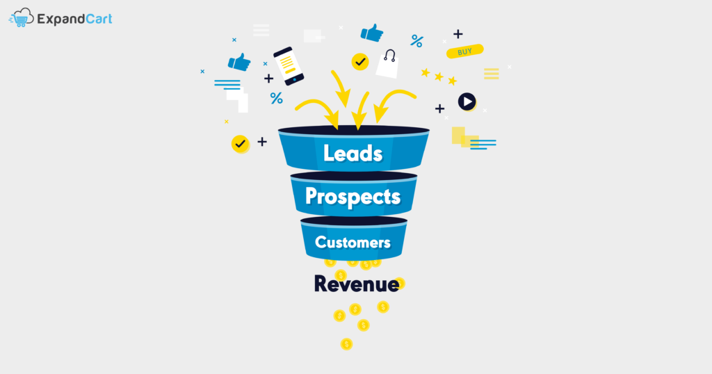 Leads and Prospects in sales funnel