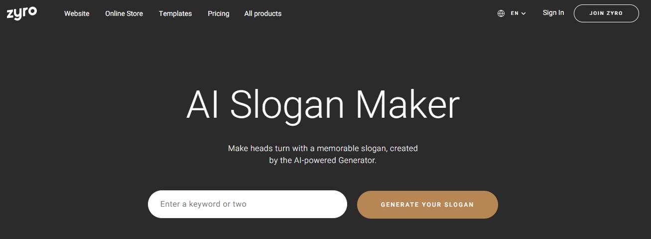 Slogan maker free websites